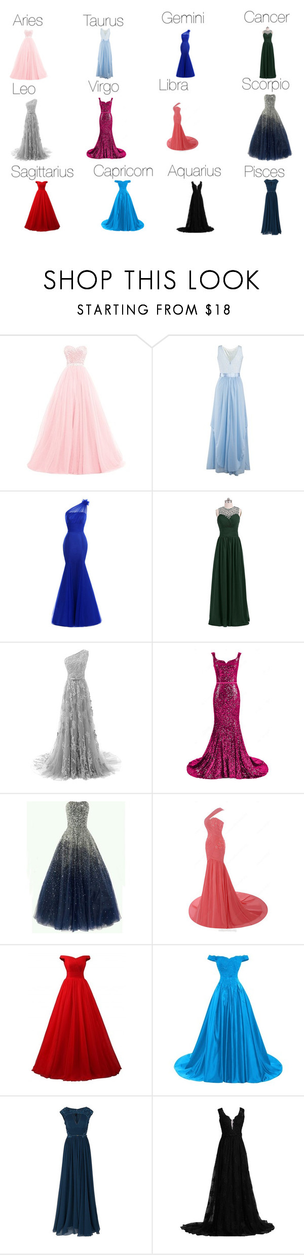Zodiac Sign Preference Prom Dresses