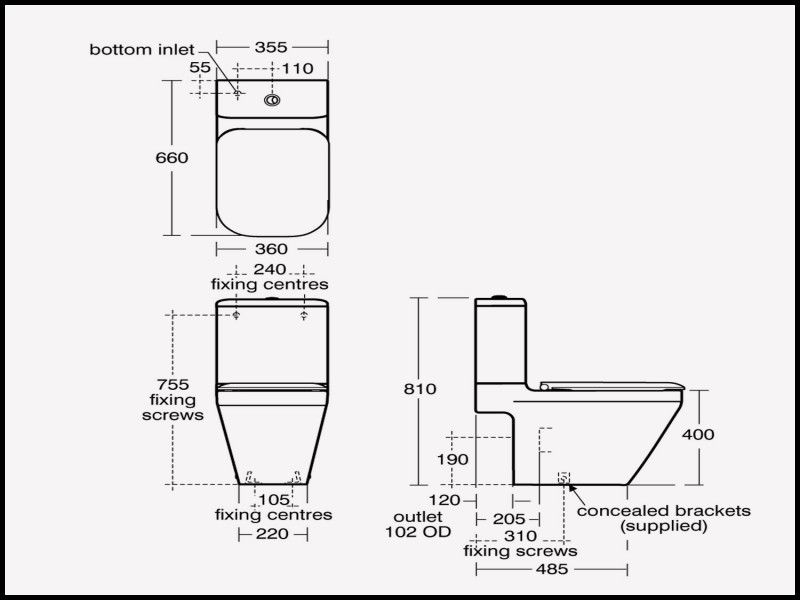 Lovely Standard Elongated Toilet Dimensions