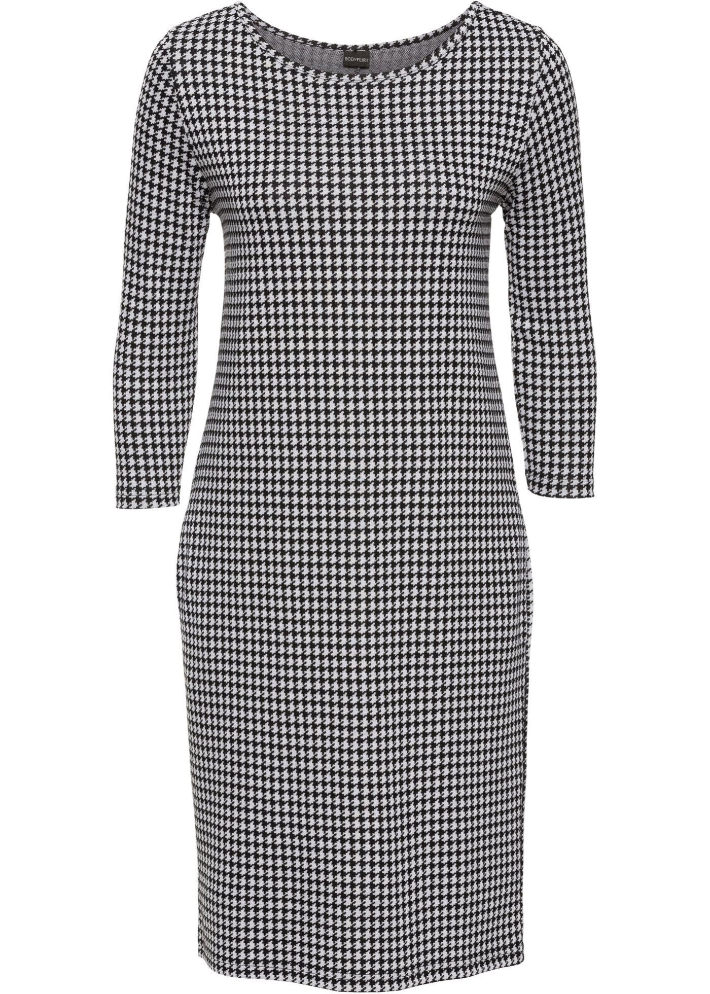 8a6bbb36983 Платье черный белый с узором - Для женщин - BODYFLIRT - bonprix.ru ...