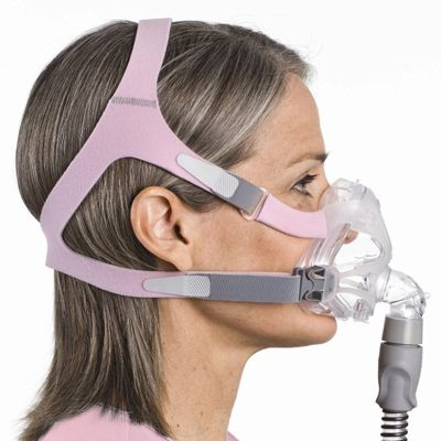 Quattro Fx For Her Full Face Cpap Mask With Headgear By Resmed Cpap Mask Cpap Effects Of Sleep Apnea