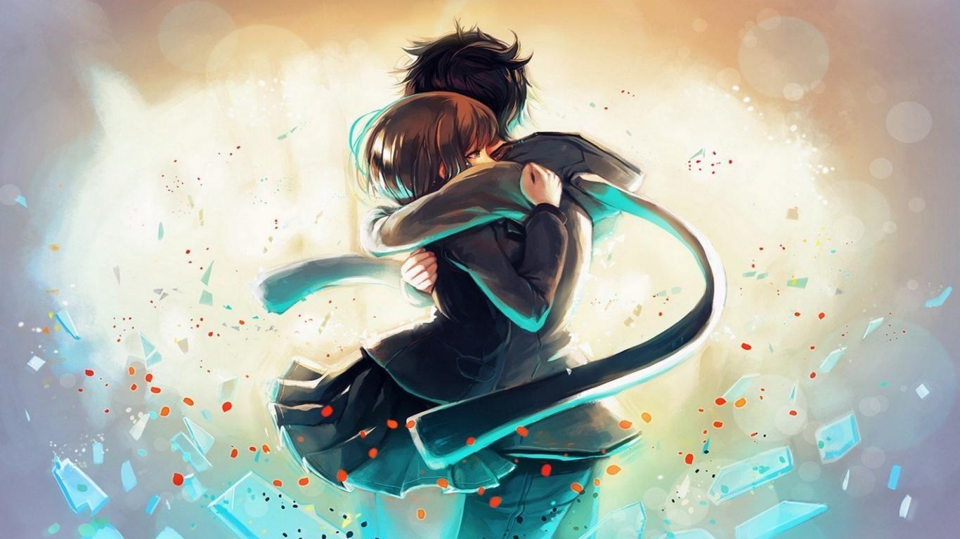 Anime Boy Girl Hug Love HD Wallpapers HD Wallpaper  Anime hug, Hd