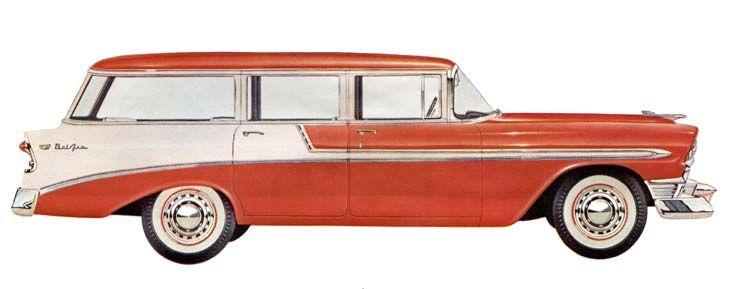 1956 Chevrolet Bel Air Beauville 4 Door 9 Passenger Station Wagon