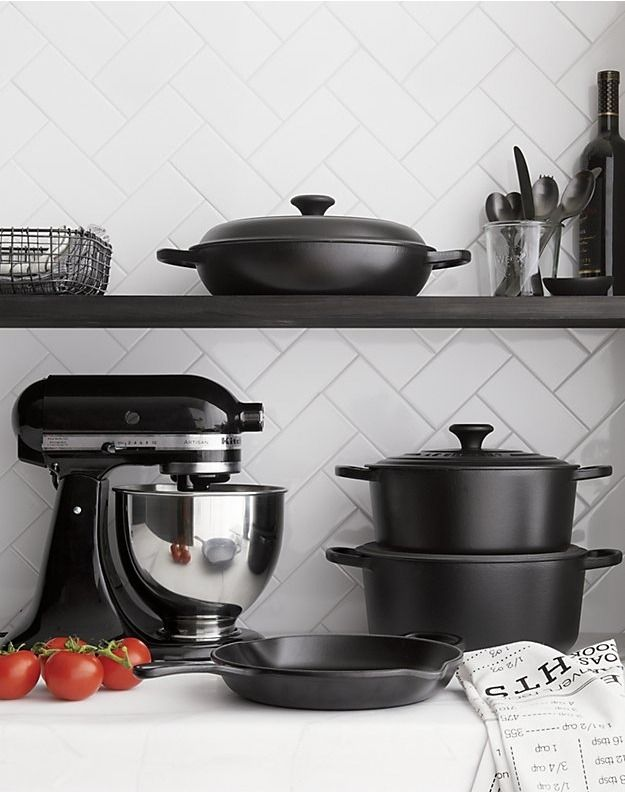 Kitchenaid Ksm150psbm Artisan Matte Black Stand Mi Reviews Crate And Barrel Country Kitchen Designs Kitchen Aid Kitchen