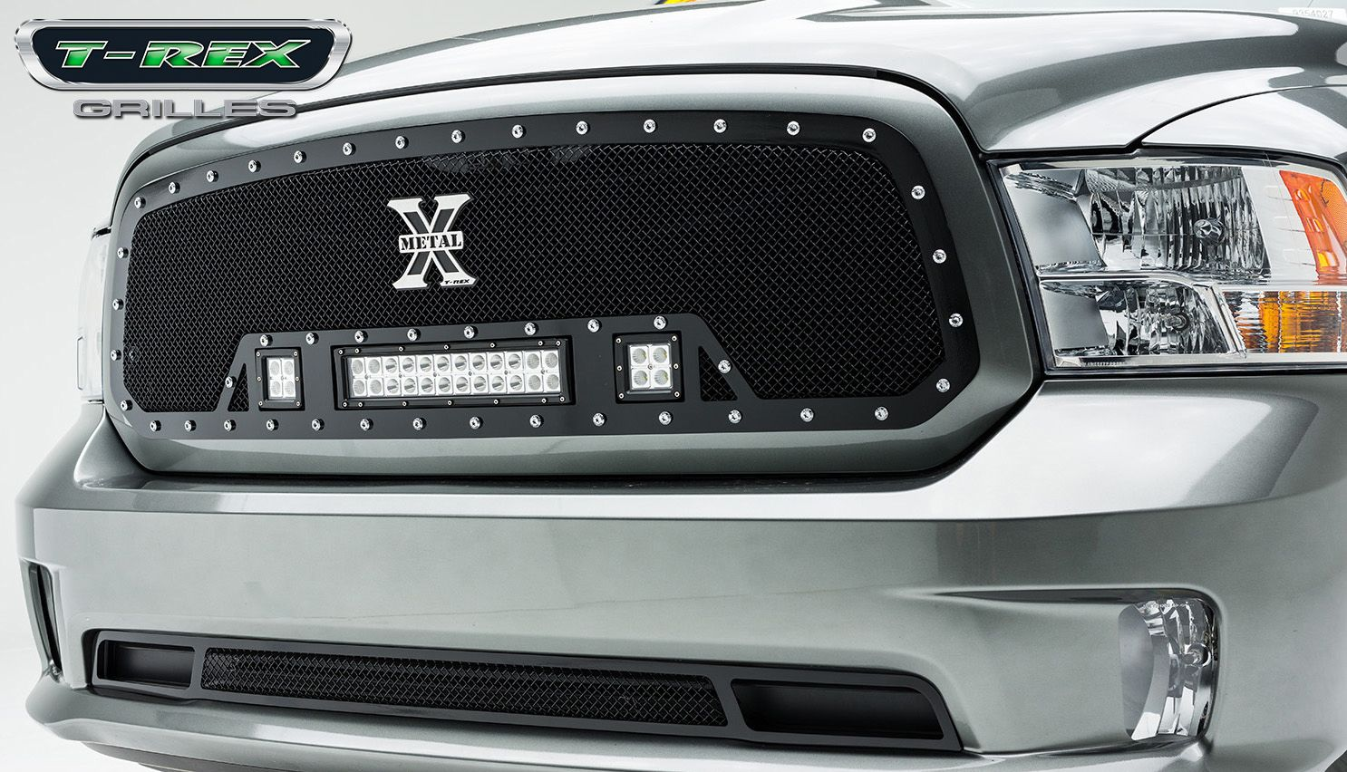 2013 Dodge Ram 1500 Torch Series Led Light Grille Formed 2010 2500 Wiring Diagram Mesh Main Full Opening Requires Cutting Factory Cross Bar In Oem For