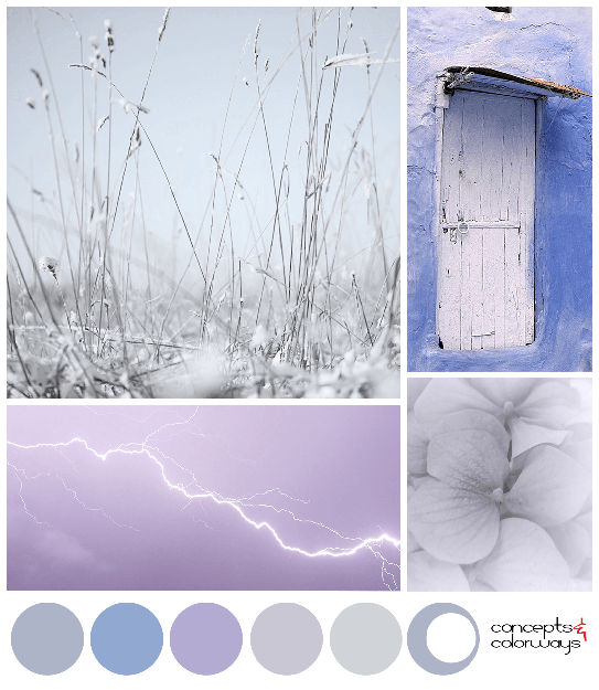 Purple Blue And Gray Color Palette Mood Board Pantone