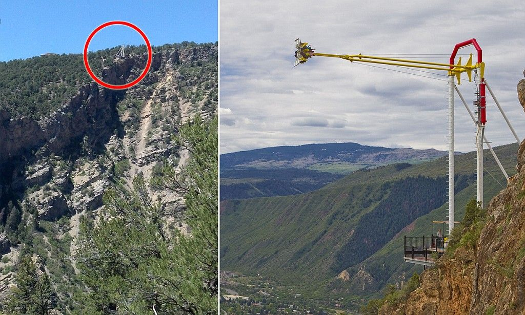 Is this the world's scariest swing? New 'Giant Canyon