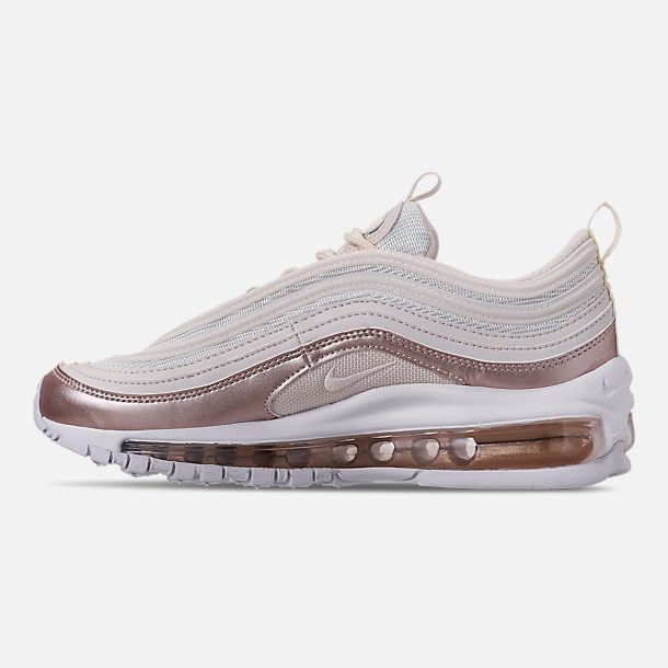 watch 2d908 fe016 Left view of Girls  Big Kids  Nike Air Max 97 Casual Shoes in  Phantom Phantom Metallic Red Bronze White