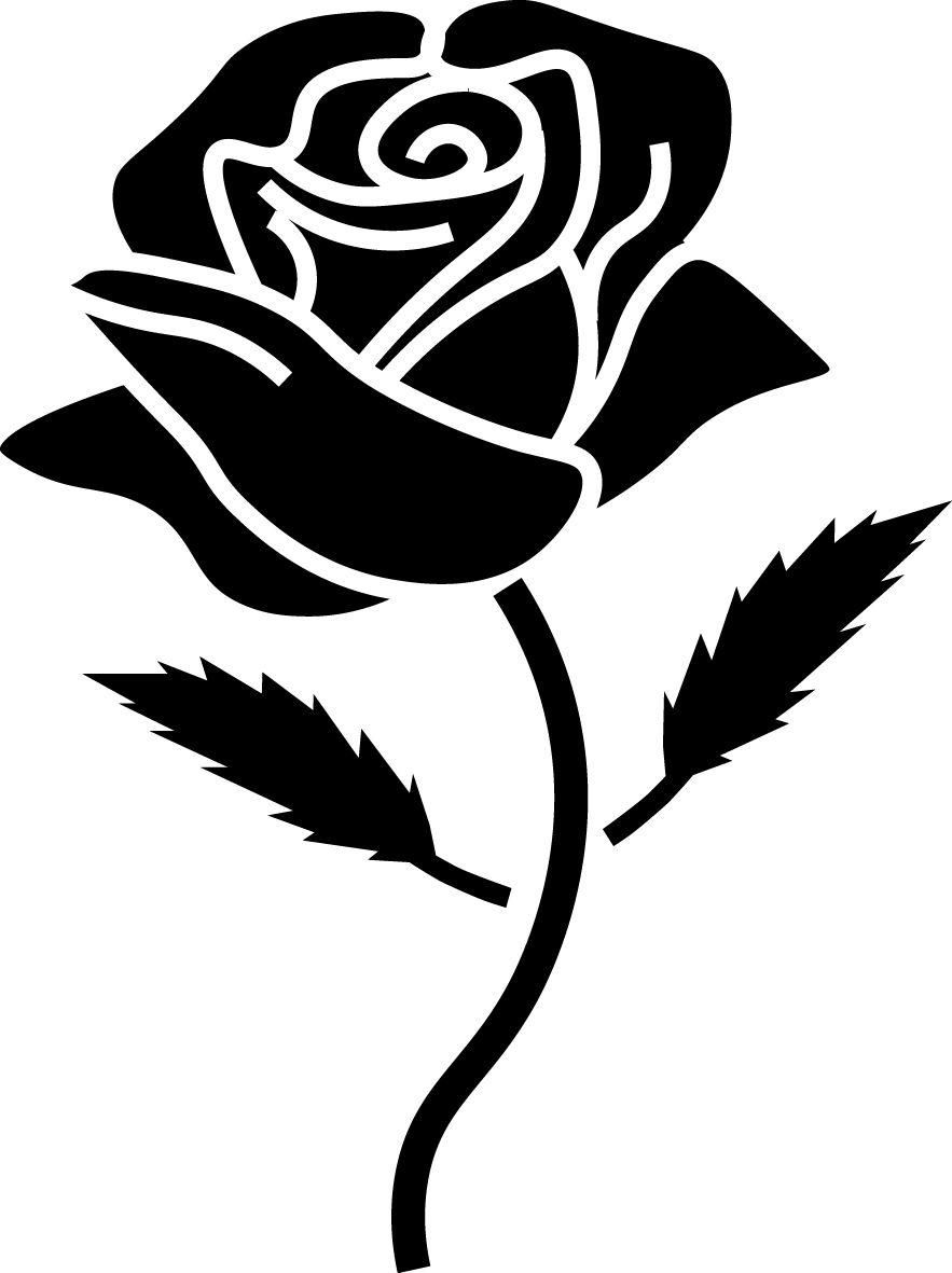 Long Stem Roses Car or Truck Window Laptop Decal Sticker