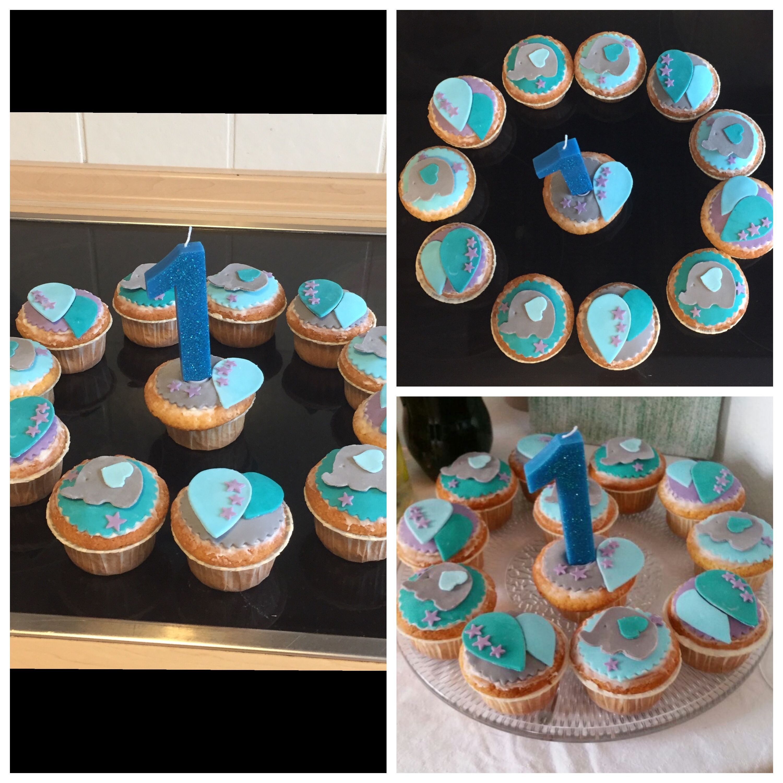 Muffins Mit Fondant Zum 1 Geburtstag Fondant Geburtstag