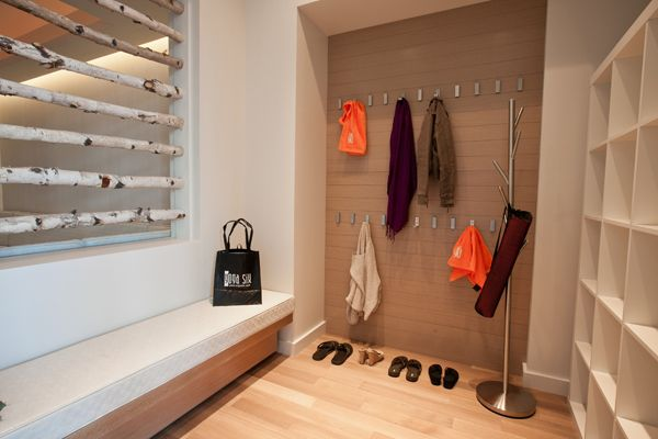 Yoga studio area for gear studios pinterest for Studio closet design