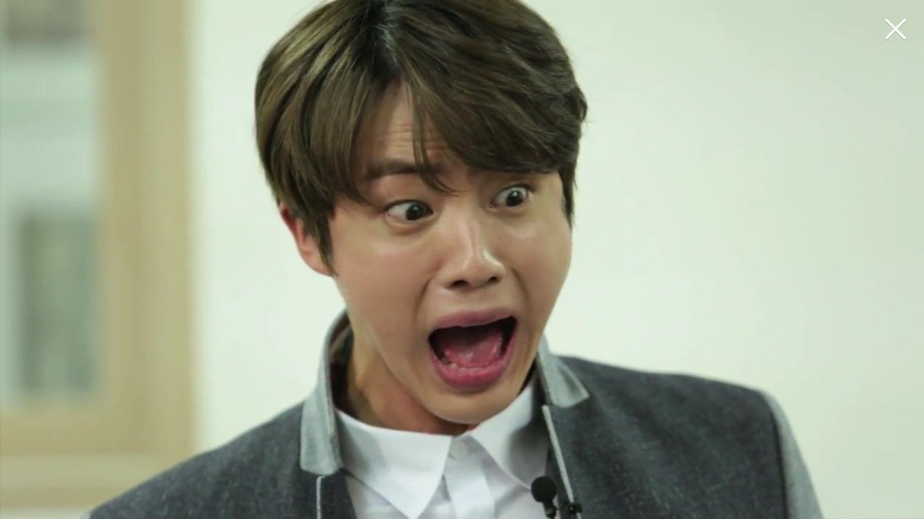 When you ask Jin if you can sit on his lap | Kpop | Bts face, Bts