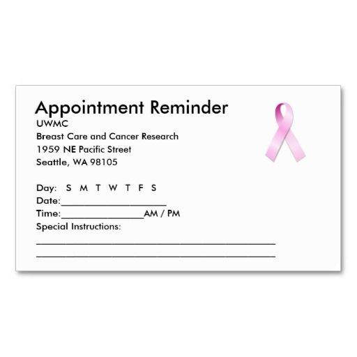 appt reminder cards