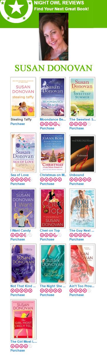 Romance Author Susan Donovan's Books. Lots of Top Picks on her list.