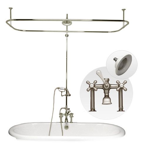 clawfoot tub shower enclosure set. Maidstone Clawfoot Tub Side Deck Mount Shower Enclosure With Faucet And  Handshower Kit Haus Bath Pinterest Enclosure Tubs Wholesale