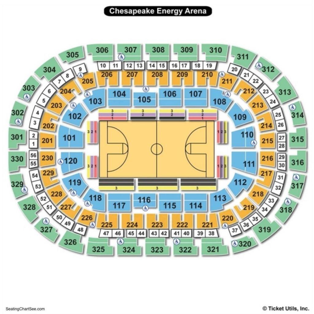 Chesapeake Arena Seating Chart Chesapeake Energy Arena Chesapeake Arena Seating Charts