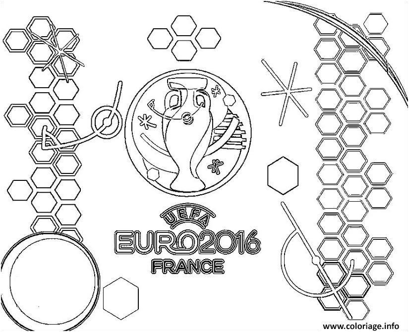 Euro 2016 France Logo Championnat De Football Coloriage Dessinde