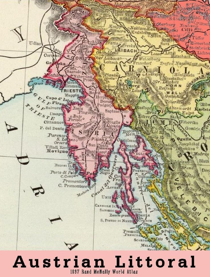 Austrian littoral 1897 by rand mcnally map austria croatia austrian littoral 1897 by rand mcnally map austria croatia slovenia gumiabroncs Gallery