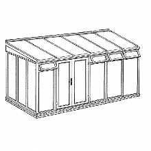 Lean To Full Height Conservatory 4644mm Width X 2343mm Projection Kataskeyes