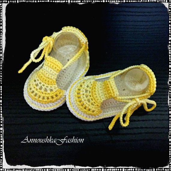 Crochet baby summer sandals,Crochet baby boots,Crochet shoes,Crochet ...