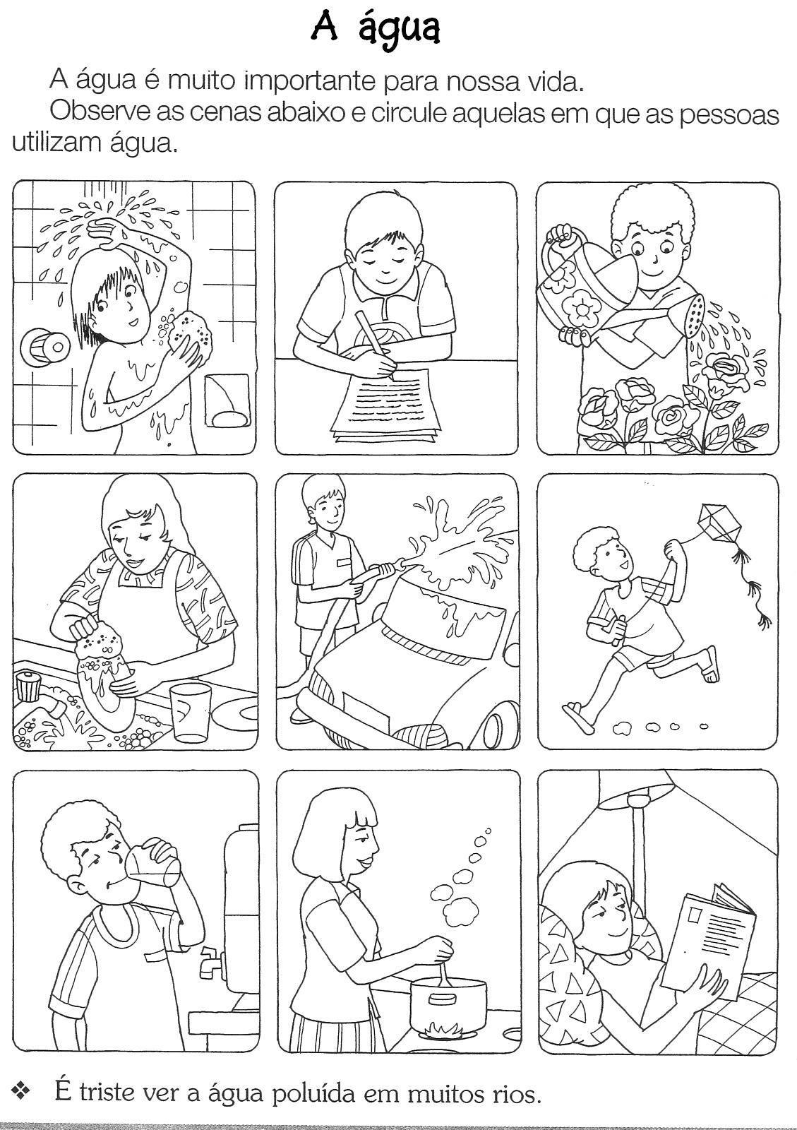 90 Atividades Sobre A Agua Para Imprimir Educacao Infantil