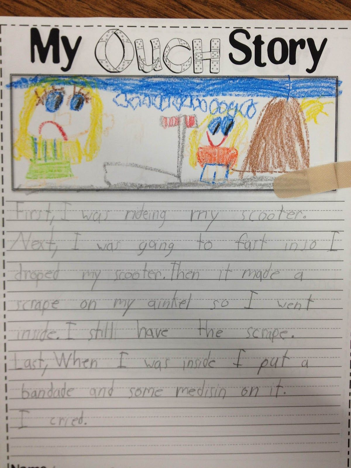 write essay kindergarten