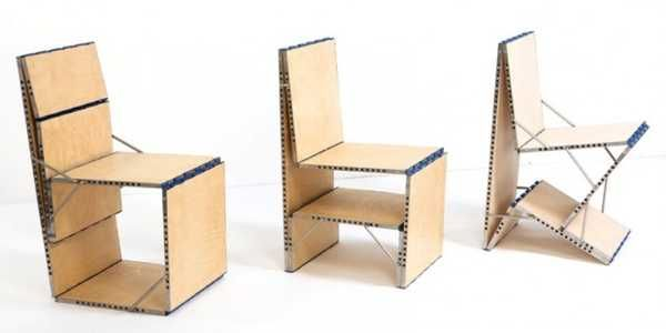 multifunctional board loop transforms into 9 unique furniture pieces