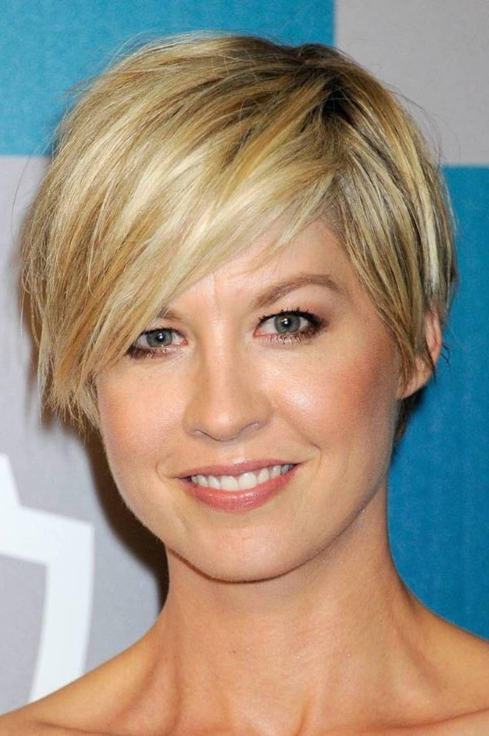 Short Pixie Jenna Elfman Hair Cut It Off Pinterest