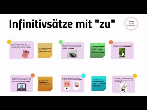 Infinitivsatze Mit Zu Youtube Langue Allemande Enseignement Education