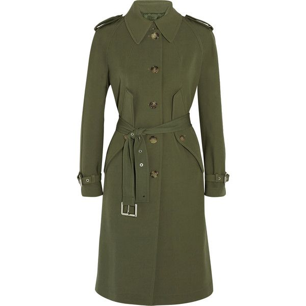 Michael Kors Collection Wool-gabardine trench coat (805,715 KRW) ❤ liked on  Polyvore