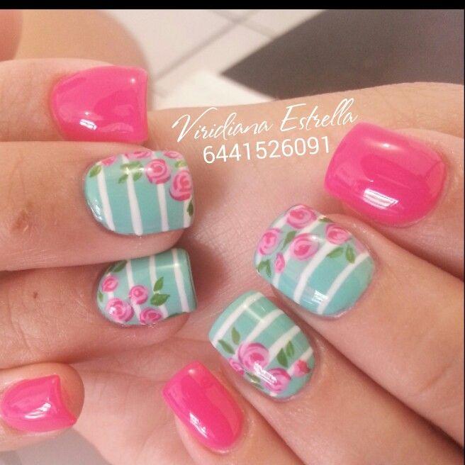 menta rosa | nails | Pinterest | Menta, Diseños de uñas y Uñas con ...