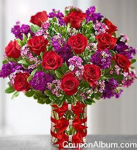 Valentine Floral Arrangements 1800 Flowers Valentine S Day Gifts 15 Off Online Shoppi Valentines Flowers Flower Arrangements Flowers For Valentines Day