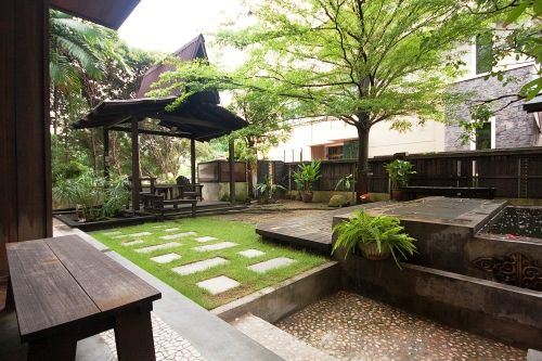 A Contemporary Take Of A Malay Garden Which Normally Have Heaps