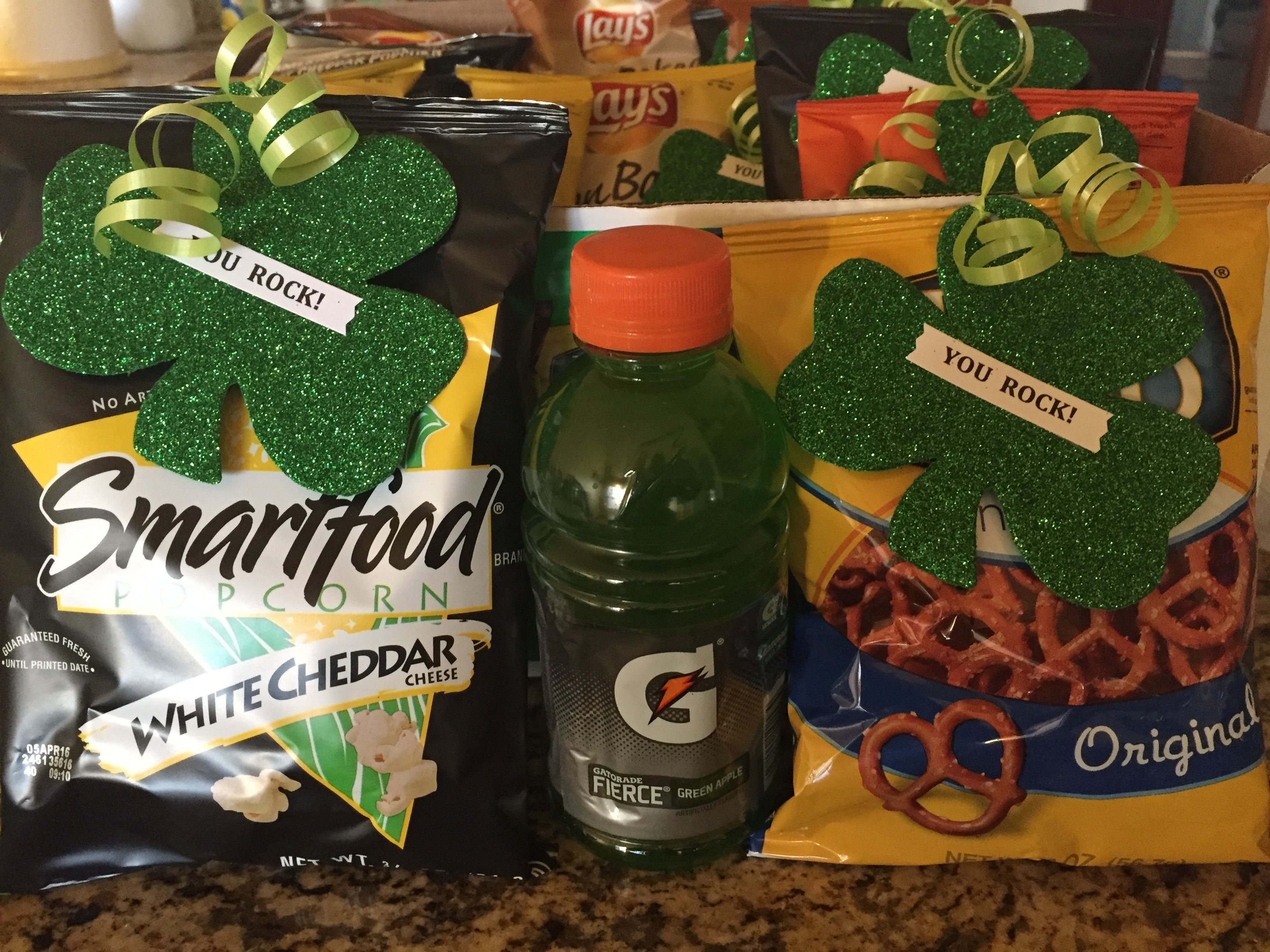 St Patricks Day Baseball Snacks To Hand Out With Shamrock Sugar