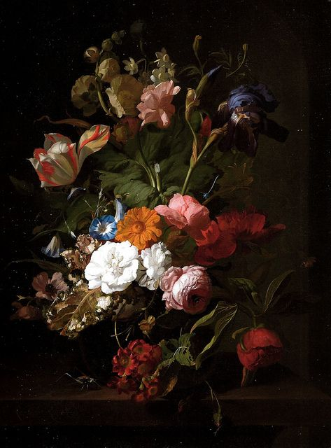 Rachel Ruysch - Vase of Flowers, 1700 (Royal Picture Gallery Mauritshuis  The Hague) at Dutch Paintings from Mauritshuis Exhibit at de Young Museum  of Fine Arts … | Flower painting, Floral painting, Painting