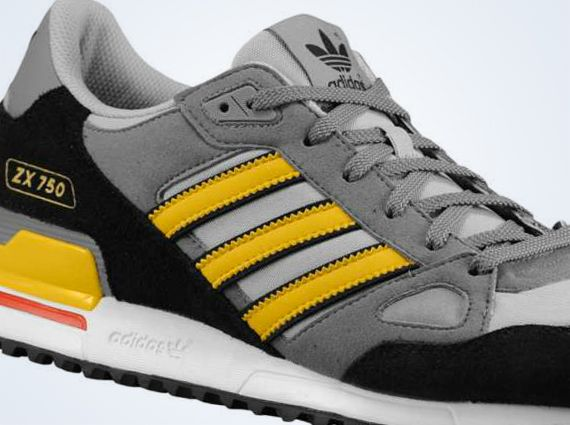 buying cheap size 7 delicate colors adidas zx750 black grey yellow red adidas Originals ZX 750 ...