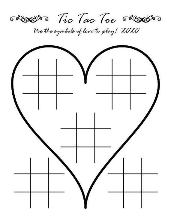 Tic Tac Toe Wedding Activity Page Wedding activities and Weddings