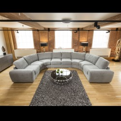 Modern U Shape Sofa Cinema Corner