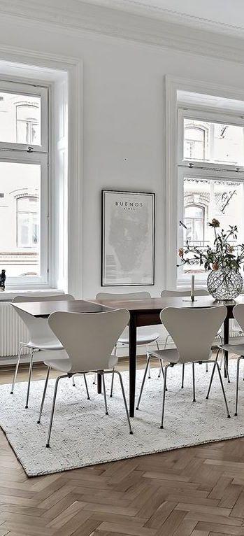 Esszimmer einrichten Esstisch Holz skandinavisch modern Arne ...
