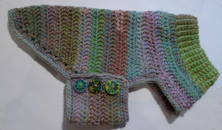 Cappottino per cani ai ferri - Lavoretto a maglia