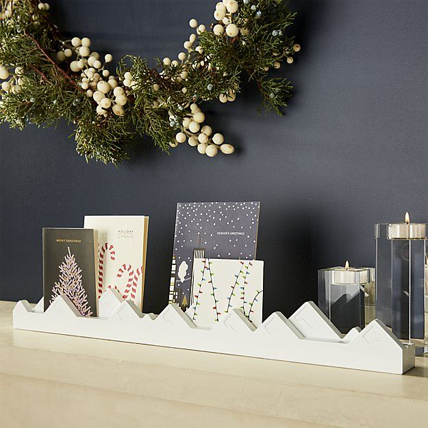 Mountain Christmas Cards.Mountain Card Holder Crate And Barrel Celebrate
