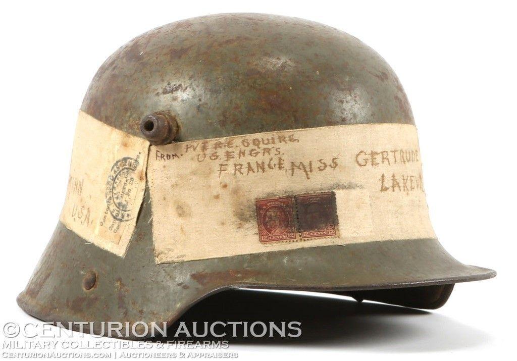 060d11a1d WWI GERMAN M16 HELMET SOUVENIR SHIPPED BACK HOME | WWI | Wwi, Navy ...