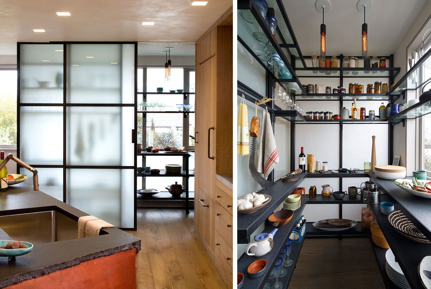 Kitchen shelving units  A Wurster Revival by Butler Armsden Architects  Storage  Pinterest