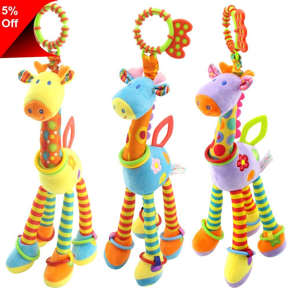 Rainbow Handbells Developmental Toy Bed Bells Infant Kids Baby Toys Rattle