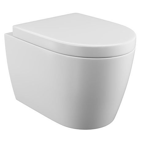Bianco Wall Hung Toilet Inc Soft Close Seat Victorian Plumbing Uk In 2020 Wall Hung Toilet Bathroom Wall Hanging Curved Walls