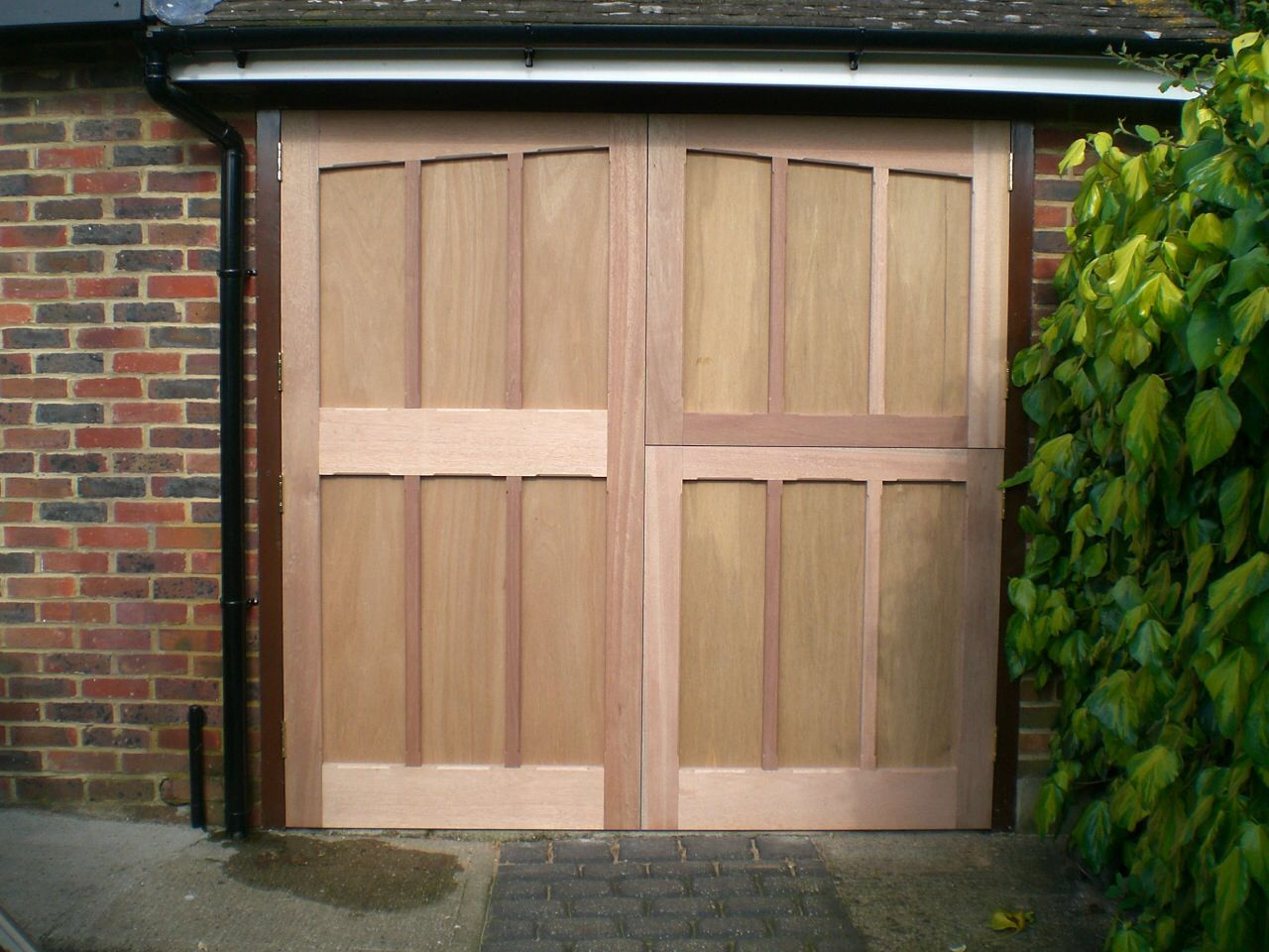 Bespoke garage doors with one side as stable door - by BMC Carpentry and Construction  & Bespoke garage doors with one side as stable door - by BMC ... pezcame.com