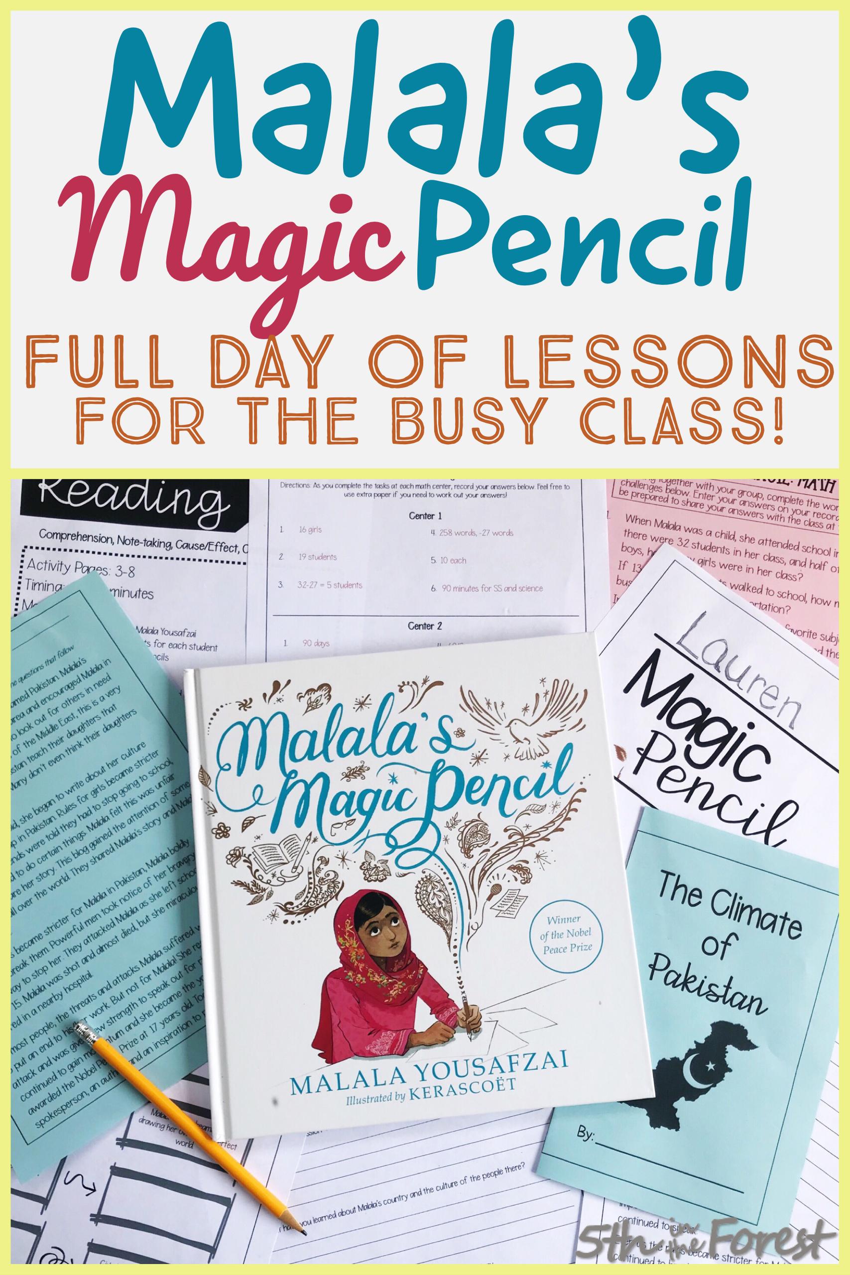 Malala S Magic Pencil Full Day Of Lesson Plans