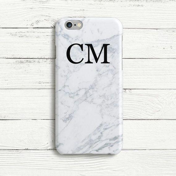 iphone 6 plus case marble initials