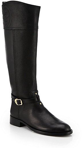 396ceac376f Tory Burch Marlene Leather Riding Boots -- Take  75 off with code
