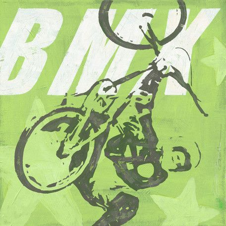 Extreme Sports BMX by Roger Groth Painting Print on Wrapped Canvas