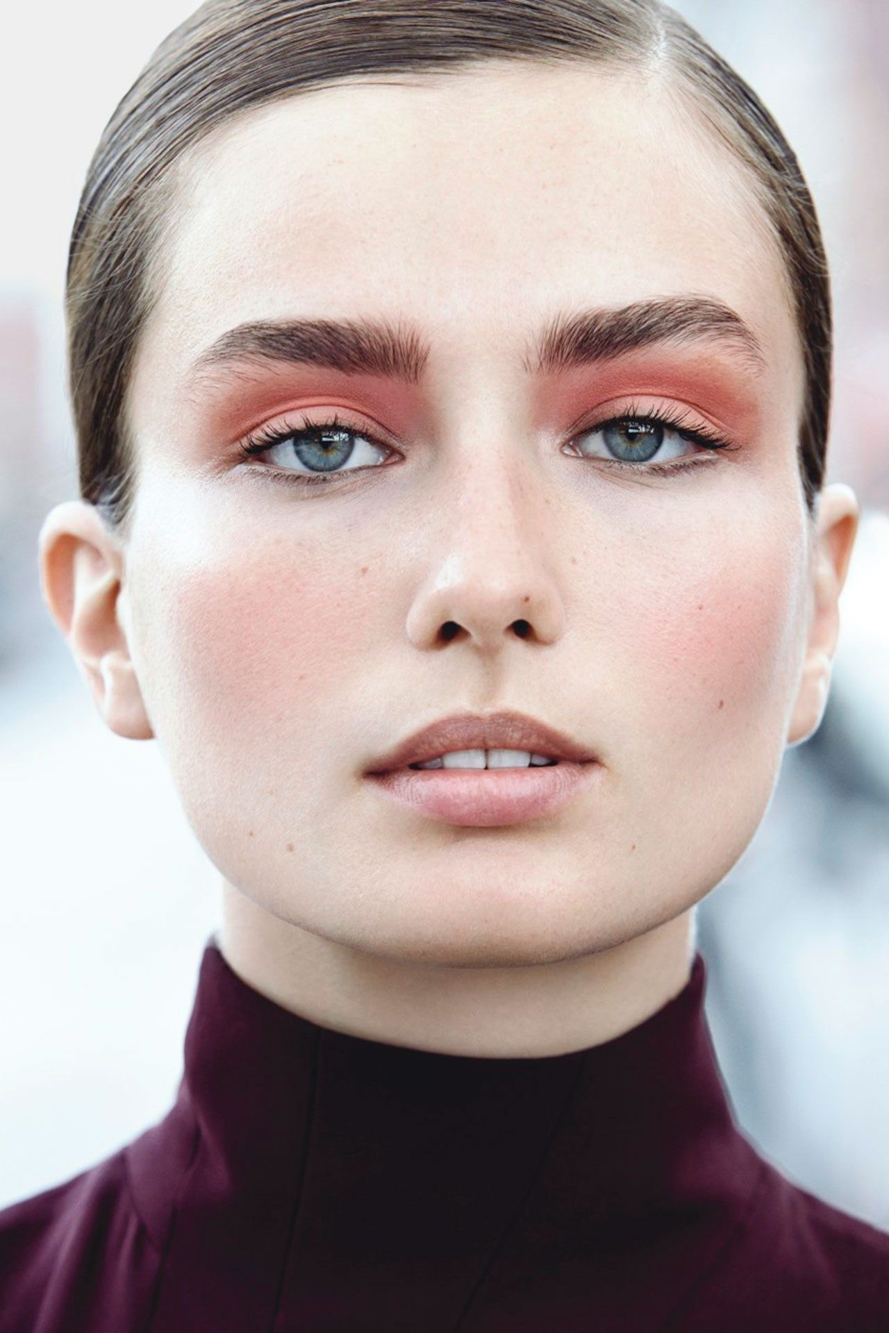 bold brows and bronze lids